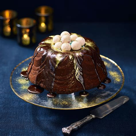 chocolate christmas bundt cake dessert recipes woman home
