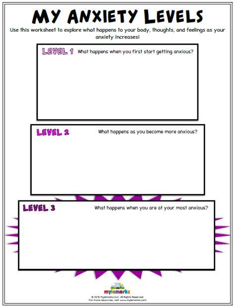 anxiety worksheets kids teens