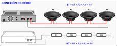 audiluminacion conexi 243 n serie paralelo y serie paralelo - Como Conectar 2 Parlantes En Serie