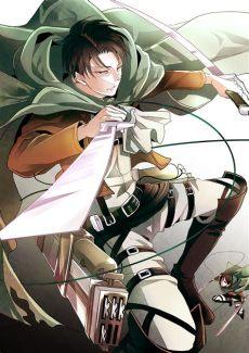attack on titan levi and eren fanart attack on titan mobile wallpaper 1486821 zerochan anime image board