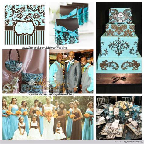 wedding colors themes nigerian wedding aqua blue brown
