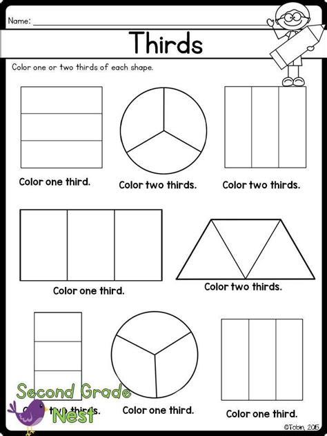 fractions printables fractions 2nd grade worksheets math fractions