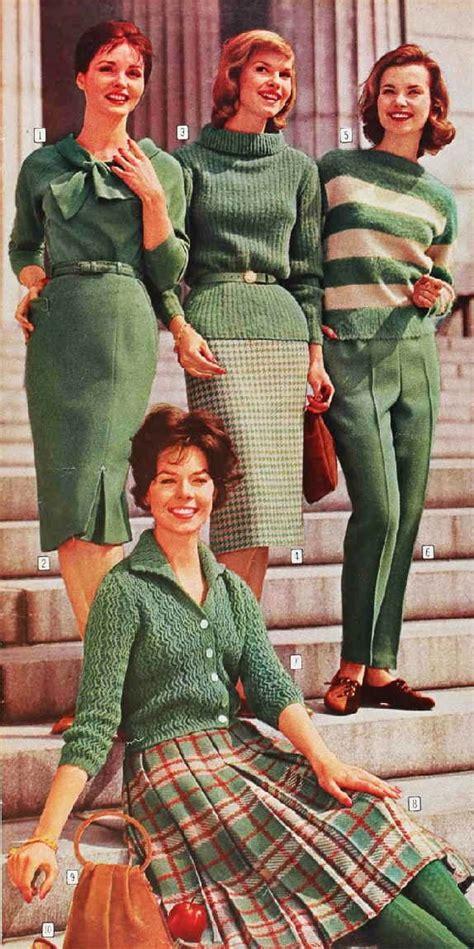 early 60s high school collegiate fashions 1960 fashion