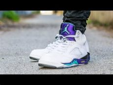air jordan 5 grape on feet 2013 air 5 grape on sneaker review