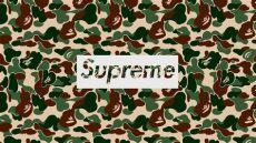 supreme x bape wallpaper supreme bape wallpapers wallpaper cave