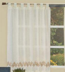 cortinas para recamara vianney cortina de cocina bordada diamanto d vianney 239 00 en mercado libre