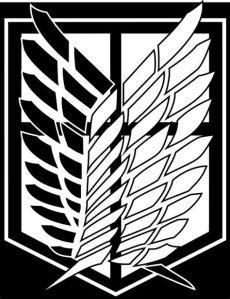 attack on titan logo black and white attack on titan scouting legion survey corps car decal ver 2 sticker ebay