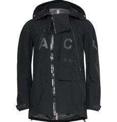 nike acg alpine jacket black nike synthetic acg alpine tex hooded jacket in black for lyst