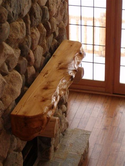 root wood mantle rustic fireplaces rustic house cabin