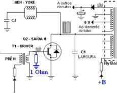 transformador driver horizontal transistor horizontal esquemas eletronica pt