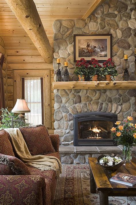images log home fireplaces click photo