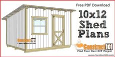 10x12 lean to shed plans free pdf construct101 - Building A 10x12 Lean To Shed
