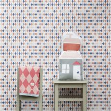 harlequin childrens wallpaper happy harlequin wallpaper by ferm living rosenberryrooms
