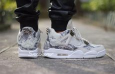 air jordan 4 retro premium snakeskin air iv retro premium quot snakeskin quot on foot images complex