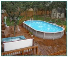 above ground pool wooden deck kits gorgeous above ground pool wood deck kits 2 home improvement