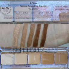 rcma foundation palette review rcma 5 series foundation palettes swatches makeup review smashinbeauty