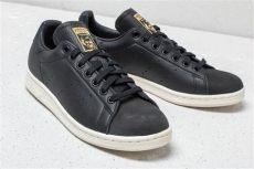 stan smith premium shoes black adidas stan smith premium black black gold metallic footshop