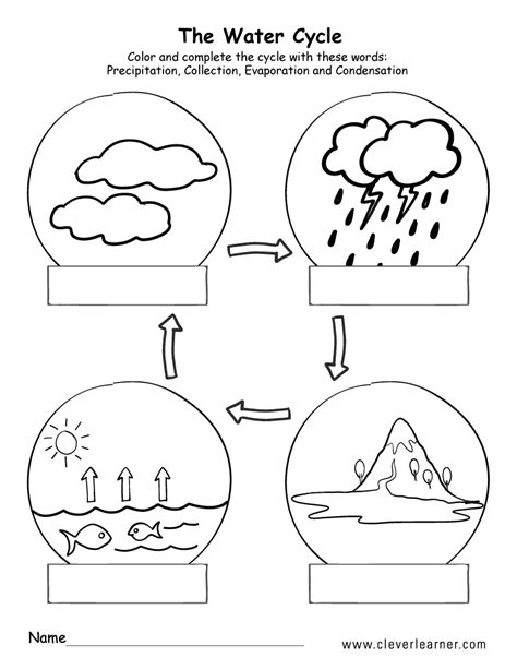 Water Cycle Printable Worksheets 2nd Grade.html