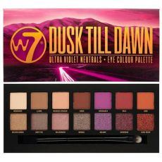w7 eyeshadow palette w7 cosmetics dusk till 14 colour eyeshadow palette free delivery justmylook
