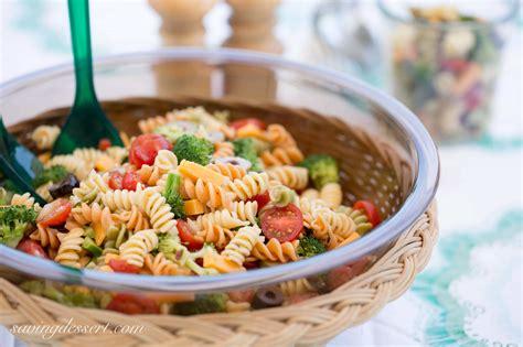easy pasta salad zesty italian dressing saving room