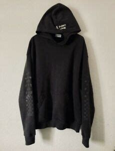 authentic rhude black racer pullover hoodie size large great condition - Rhude Racer Hoodie