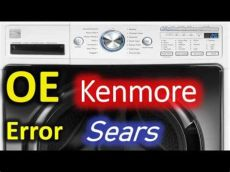 error 0e oe error code solved kenmore 796 front load washer washing machine 0e