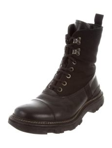 prada leather combat boots prada sport leather combat boots shoes wpr43823 the realreal