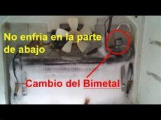 que pasa cuando un refrigerador no enfria como reparar un refrigerador cuando no enfria abajo cambio bimetal