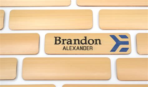 2 75x 75 engraved bamboo badge 2 color