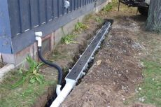 how to unclog a downspout from the ground installation of channel drain system dura slope by nds for in ground gutter system in 2019