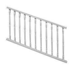 veranda railing kits veranda williamsburg 6 ft x 36 in white stair rail kit 73003987 the home depot