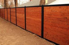 metal frame for wooden fence build a wood fence with metal posts that s actually beautiful