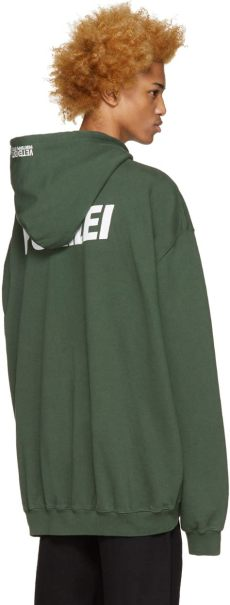 lyst vetements green polizei hoodie in green for - Vetements Green Polizei Hoodie