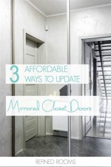 design solutions for outdated mirrored closet doors - Ways To Update Mirrored Closet Doors