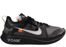 nike zoom fly off white black silver on foot nike zoom fly white black silver aj4588 001 bred