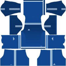 kit dls 2019 polos biru kumpulan kit dls keren adidas untuk tim impian sobat