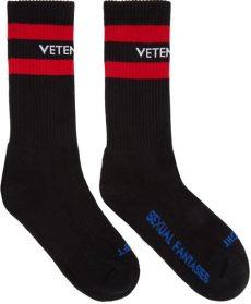 lyst vetements black sexual fantasies socks in black for - Fake Vetements Socks