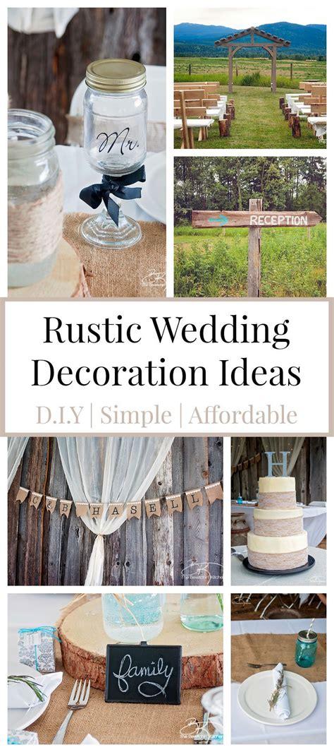 rustic wedding ideas diy affordable cheap wedding decorations