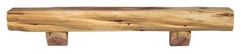 pearl mantels cedar live edge log fireplace mantel