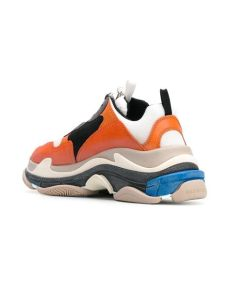 balenciaga multicolor triple s sneakers balenciaga orange and multicoloured s sneakers lyst