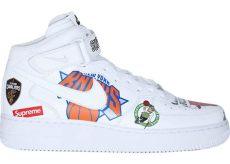 air 1 mid supreme nba white - Nike Supreme Air Force 1 Nba