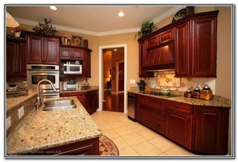 paint colors kitchens dark wood cabinets cherry wood