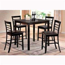 comedor alto 4 sillas precio comedor alto de madera con 4 sillas en color cappuccino tepito club