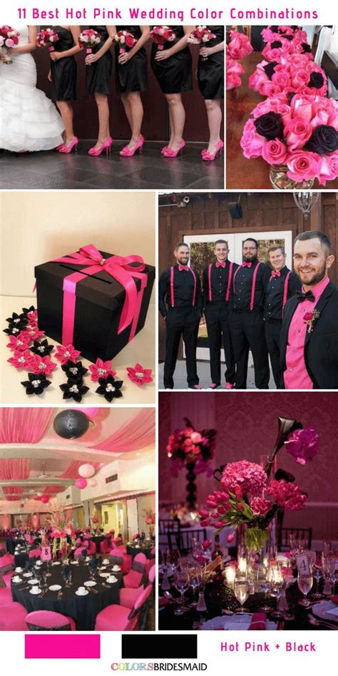 11 hot pink wedding color combinations ideas pink