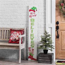 porch board christmas this house believes porch board plaque outdoor decorations decorations