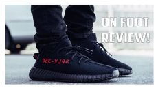 yeezy boost 350 v2 black red on feet yeezy boost 350 v2 black cp9652 on foot review
