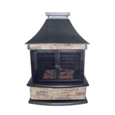 lowes outdoor fireplaces propane garden treasures 24 000 btu steel outdoor liquid propane fireplace at lowes