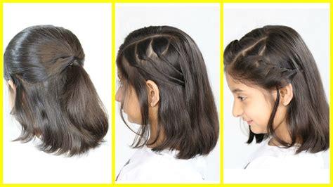 3 simple cute hairstyles short medium hair mymissanand