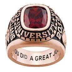 freestyle class rings personalized s gold celebrium traditional class ring - Rose Gold Foosites Grade School