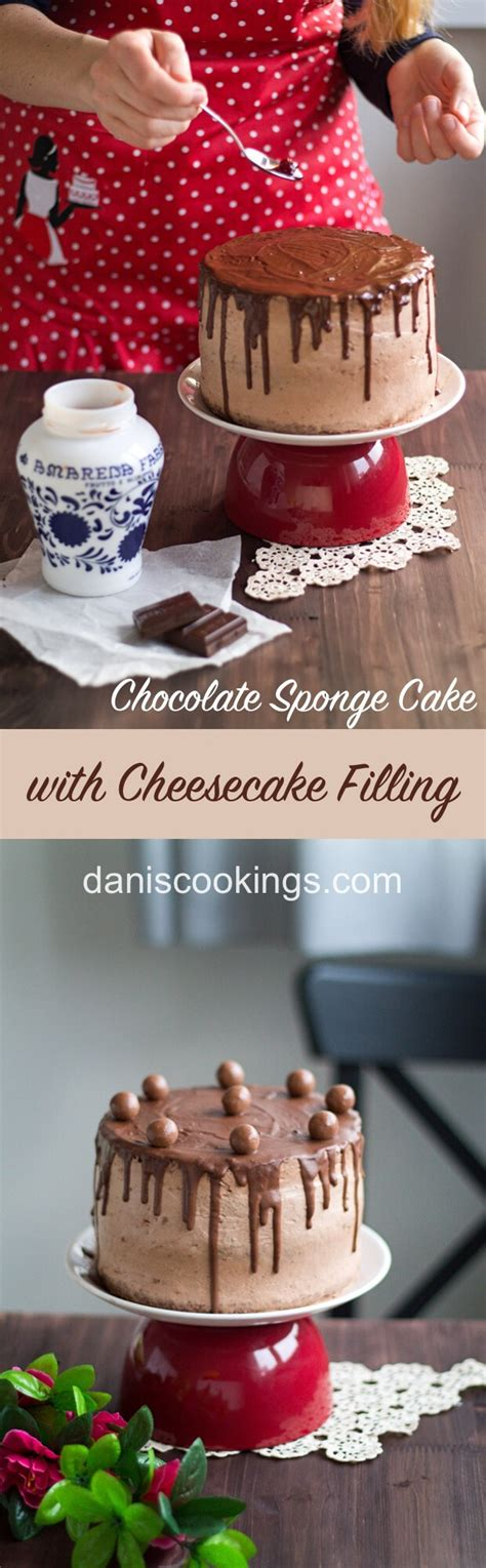 chocolate sponge cake cheesecake filling recipe dessert recipes